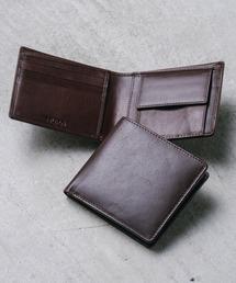 財布 牛本革レザー 隠しポケット付 スリム 二つ折り財布 ZOZOTOWN PayPayモール店