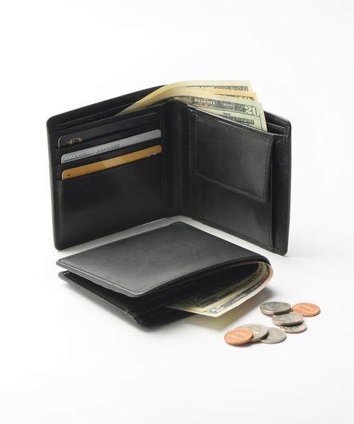 財布 早割クーポン 牛本革レザー 新商品 隠しポケット付 二つ折り財布 スリム
