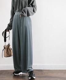パンツ 履きやすいのに高級感。ベロアコール無地イージーワイドパンツ|ZOZOTOWN PayPayモール店