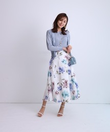 スカート シャドウフラワープリントスカート ZOZOTOWN PayPayモール店