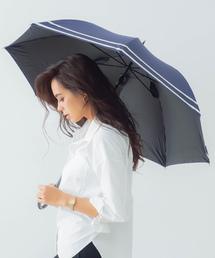 傘 完全遮光晴雨兼用耐風骨ジャンプ傘 makez. 2本ライン柄 ZOZOTOWN PayPayモール店