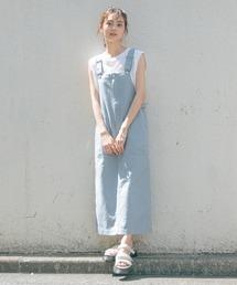 ワンピース ジャンパースカート 綿麻カラージャンスカ/933395 ZOZOTOWN PayPayモール店