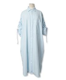 ワンピース SLEEVE GATHER SHIRT DRESS / スリーブギャザーシャツドレス|ZOZOTOWN PayPayモール店