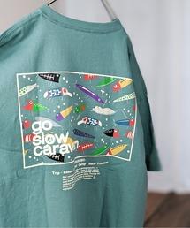 tシャツ Tシャツ go slow caravan/ゴースローキャラバン USAコットン スクエアロゴバックプリントTEE|ZOZOTOWN PayPayモール店