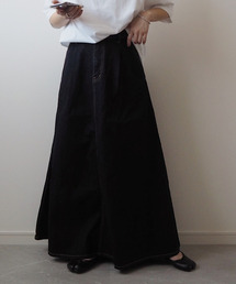 スカート デニム Volume flare denim skirt / ボリュームフレアデニムスカート(mi select)|ZOZOTOWN PayPayモール店