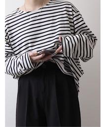 tシャツ Tシャツ Border loose Tshirt / ボーダールーズTシャツ(mi select)|ZOZOTOWN PayPayモール店