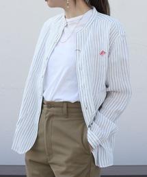 シャツ ブラウス DANTON/ダントン リネンスタンドシャツストライプ LINEN STAND SHIRTS STRIPE JD-3606KLP(ウ ZOZOTOWN PayPayモール店