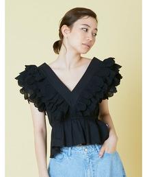 シャツ ブラウス Frill short blouse|ZOZOTOWN PayPayモール店