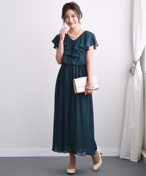 輸入 定番から日本未入荷 ドレス フレアロングワンピースドレス