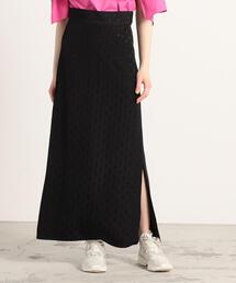 スカート シャドードット ロングセミタイトスカート|ZOZOTOWN PayPayモール店