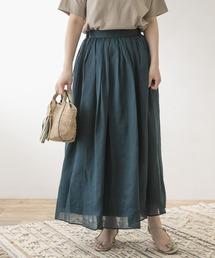 スカート F by ROSSO リネンギャザースカート|ZOZOTOWN PayPayモール店
