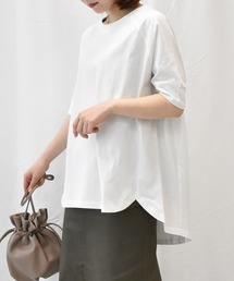tシャツ Tシャツ UVカット/接触冷感オーガニックコットン5分袖裾ラウンドTシャツ|ZOZOTOWN PayPayモール店