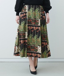 スカート IEDIT 優美なミュシャの図案をまとうクラッシックなプリントスカート|ZOZOTOWN PayPayモール店