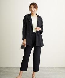 パンツ スーツ ルーズジャケット&クロップドパンツセットアップ|ZOZOTOWN PayPayモール店