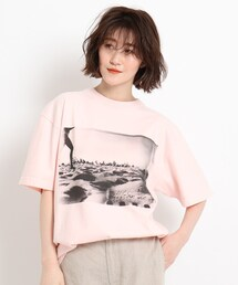 tシャツ Tシャツ 【ウォッシャブル】フォトプリントビッグTシャツ ZOZOTOWN PayPayモール店