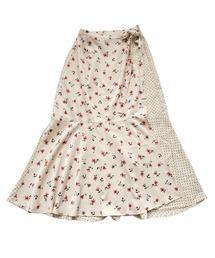 スカート ドット&フラワーラップスカート|ZOZOTOWN PayPayモール店