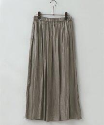 スカート HKR マキシギャザースカート 割繊カレンダーワッシャー加工|ZOZOTOWN PayPayモール店