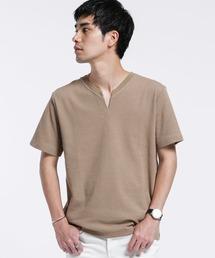 tシャツ Tシャツ フレキシブルリネンVスリットTシャツ|ZOZOTOWN PayPayモール店