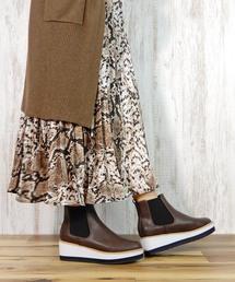 ブーツ 厚底サイドゴアショートブーツ  [ minia ]|ZOZOTOWN PayPayモール店