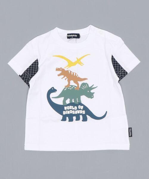 tシャツ 出色 2020 Tシャツ 4段恐竜半袖Tシャツ