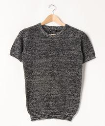 tシャツ Tシャツ 【Bk】【Bling Leads】綿麻畦編みクルーネックニット|ZOZOTOWN PayPayモール店