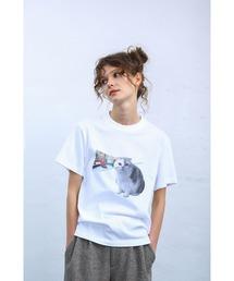 tシャツ Tシャツ Donation 猫 フォトT シャツ TeeUya&Miya ZOZOTOWN PayPayモール店
