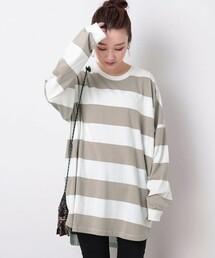tシャツ Tシャツ ▽【一部WEB限定】ビッグシルエットワイドボーダーTEE(ビッグシルエットTシャツ/ロンT) ZOZOTOWN PayPayモール店