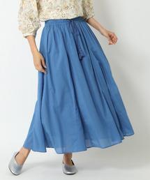 スカート Cボイルカラーロングスカート ZOZOTOWN PayPayモール店