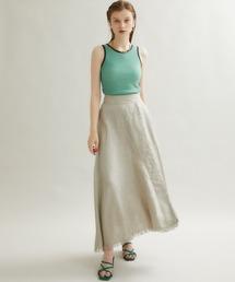 スカート 【STUDIOUS】へリンボンリネンロングスカート|ZOZOTOWN PayPayモール店