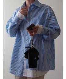 シャツ ブラウス Double design stripe shirt / ダブルデザインストライプシャツ (mi select)|ZOZOTOWN PayPayモール店