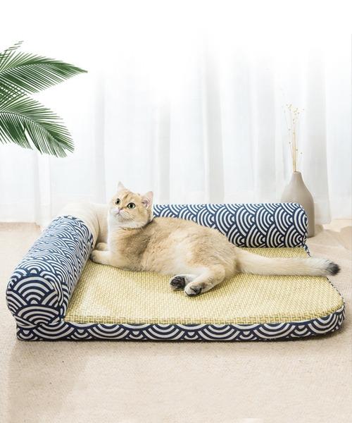 ペット 超激安 2020新作 和風涼しい洗えるペットベッド