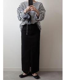 スカート デニム Black denim pencil skirt / ブラックデニムペンシルスカート (mi select)|ZOZOTOWN PayPayモール店