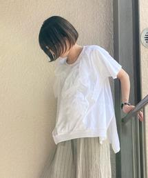tシャツ Tシャツ 24/-天竺 フロントフリルスクエアT ZOZOTOWN PayPayモール店