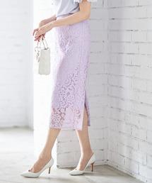 スカート フラワーレースタイトロングスカート|ZOZOTOWN PayPayモール店
