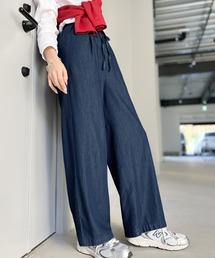 パンツ 動くたび綺麗。ゆるっとフレアテンセルパンツ。|ZOZOTOWN PayPayモール店