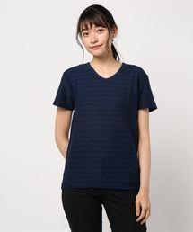 tシャツ Tシャツ タックジャガードVネックTシャツ ZOZOTOWN PayPayモール店