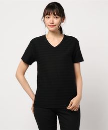 tシャツ Tシャツ タックジャガードVネックTシャツ|ZOZOTOWN PayPayモール店