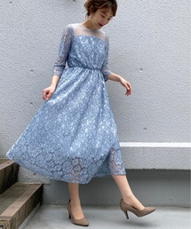 ドレス ヨーク切り替えレースドレス|ZOZOTOWN PayPayモール店