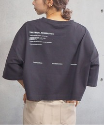 tシャツ Tシャツ 2021SS ショート丈前後プリントTシャツ|ZOZOTOWN PayPayモール店