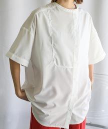 シャツ ブラウス 2021 SS アシンメトリーパイピングシャツ ZOZOTOWN PayPayモール店