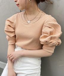 tシャツ Tシャツ 5分袖スクエアパワショルT/ボーダーT|ZOZOTOWN PayPayモール店