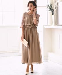 ドレス レースフレアスリーブロングドレス|ZOZOTOWN PayPayモール店