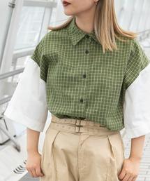 シャツ ブラウス 袖切り替え切りっぱシャツ|ZOZOTOWN PayPayモール店