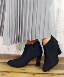 ブーツ スクエアヒールショートブーツ ■ ZOZOTOWN PayPayモール店
