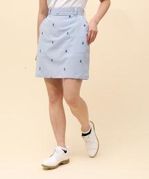 スカート サッカーストライプフラミンゴ柄プリントAラインスカート|ZOZOTOWN PayPayモール店