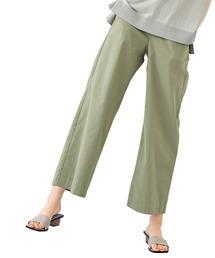 パンツ IEDIT UVカット&吸汗速乾&接触冷感 エア軽(かる)ライト素材の涼やかパンツ 麻混ワイド|ZOZOTOWN PayPayモール店