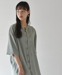 シャツ ブラウス リネン風ルーズシルエットチャイナシャツジャケット|ZOZOTOWN PayPayモール店