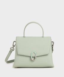 ショルダーバッグ バッグ ストーンエンベリッシュド フロントフラップバッグ / Stone-Embellished Front Flap Bag|ZOZOTOWN PayPayモール店