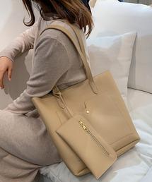 トートバッグ バッグ 2WAYミニポーチ付きトート トートバッグ ショルダーバッグ お洒落 大容量 ビジネス オフィス bag|ZOZOTOWN PayPayモール店