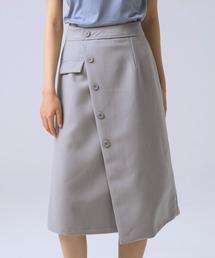スカート ラップ風イレギュラーヘムスカート|ZOZOTOWN PayPayモール店